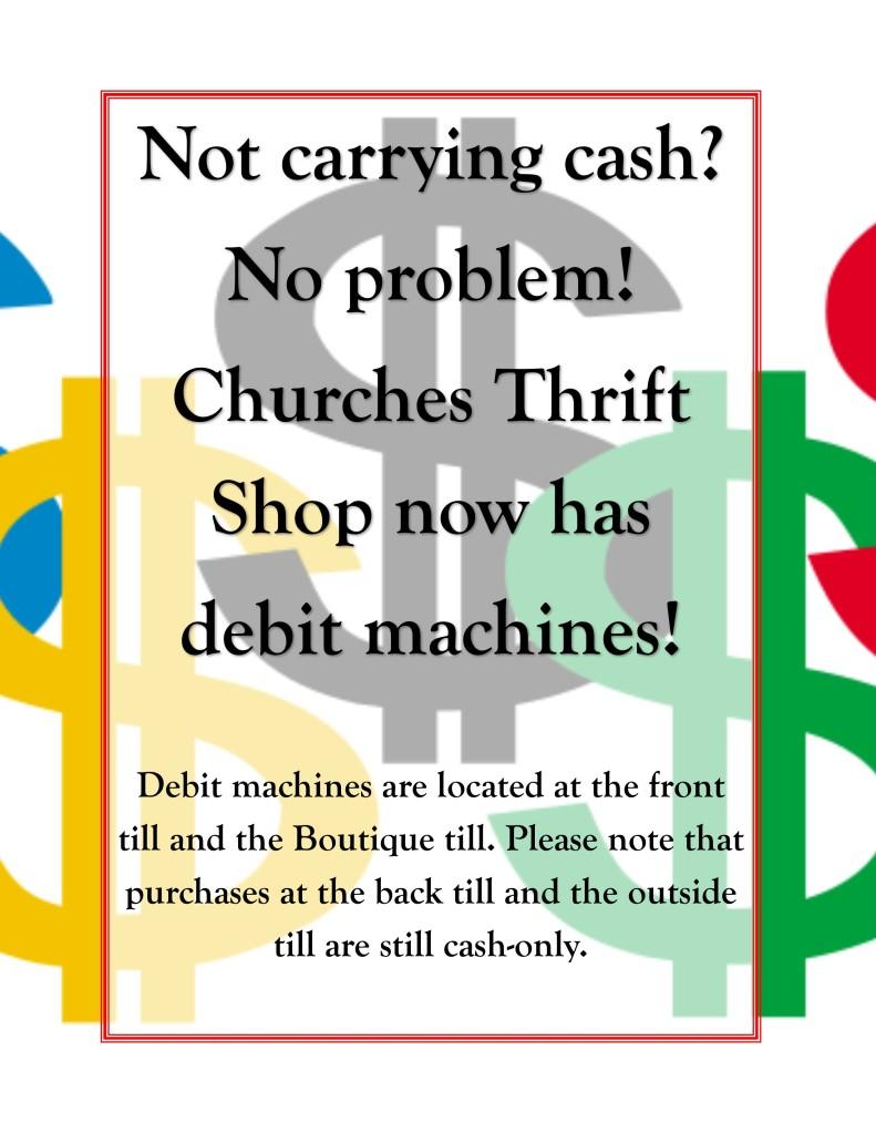debit machine announcement